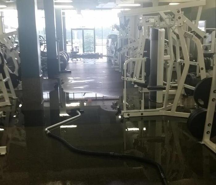 Flooded Gym Before